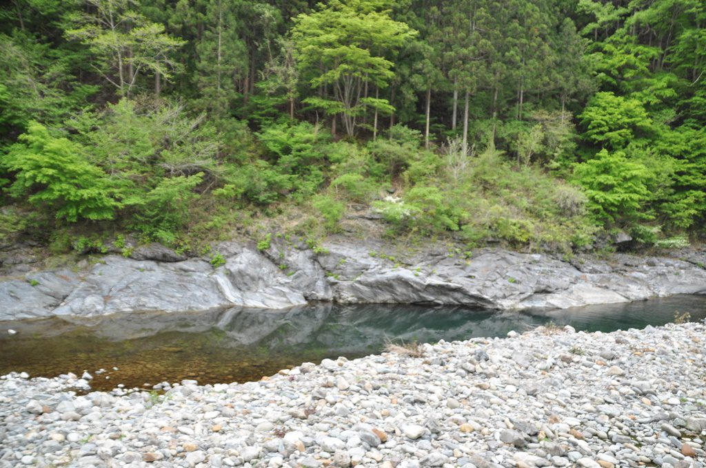 道の駅:大滝温泉の下の川。