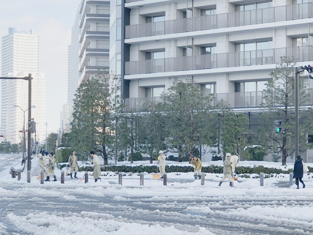 道路の雪かき