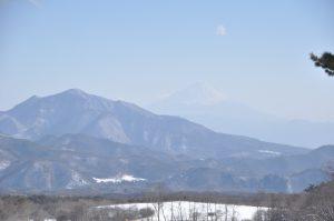 清泉寮から見た富士山