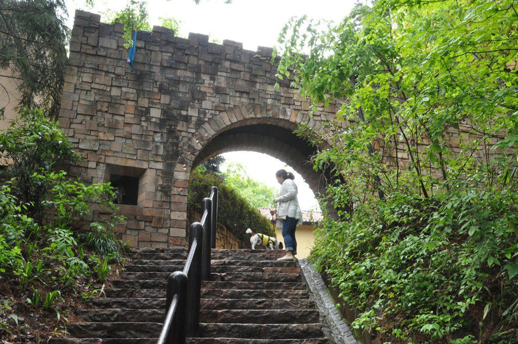 階段を上がって、城内へ行きます。
