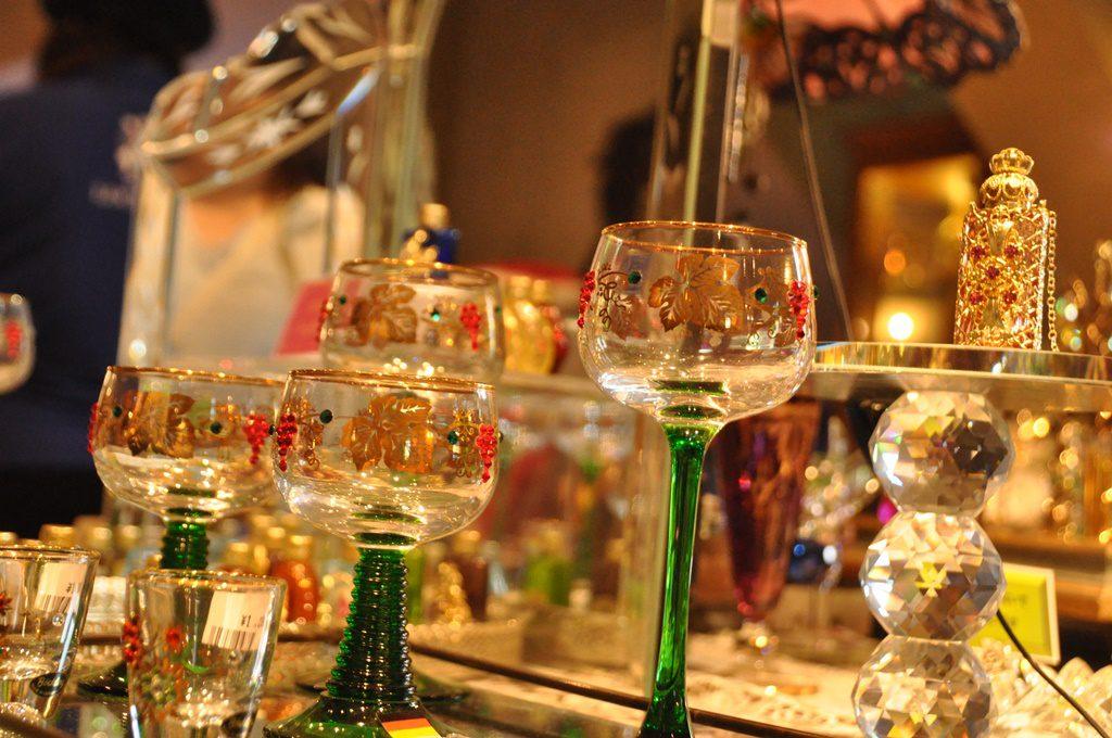 綺麗なグラスも展示されています