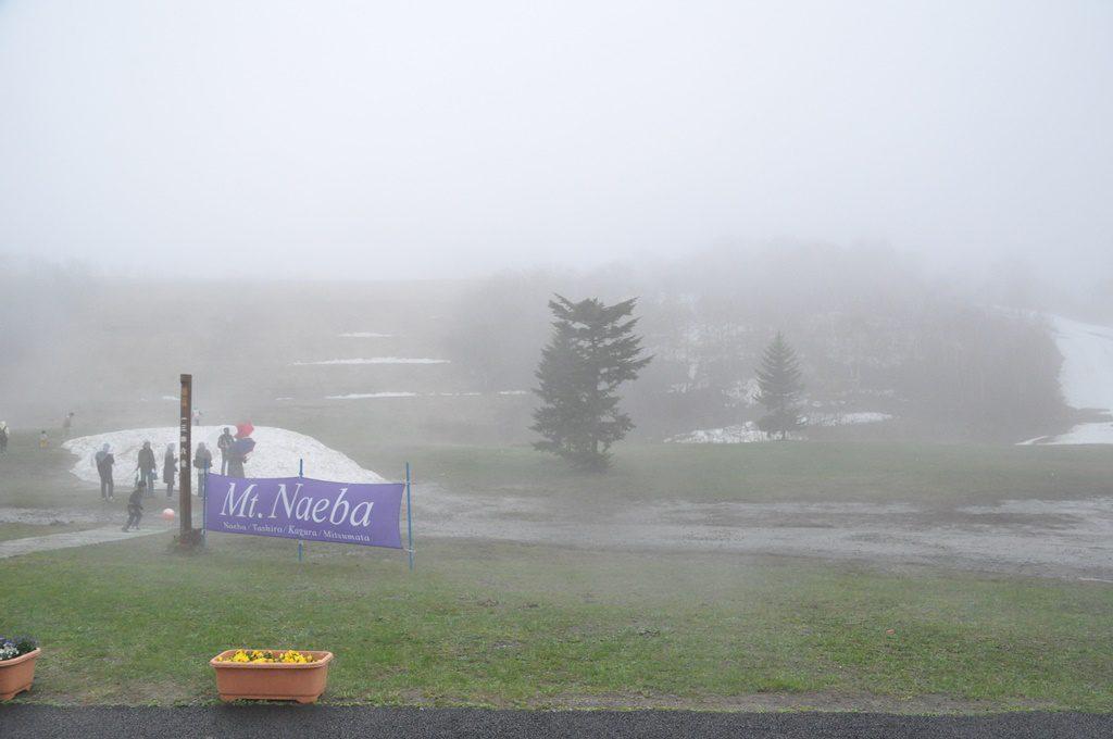 こんなに、霧が、寒ぶ~!