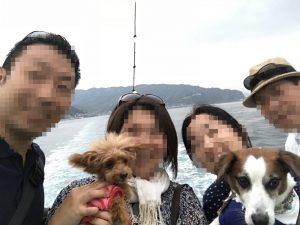 ウメパパ初「東京湾フェリー」記念撮影