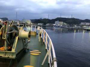 40分で久里浜港到着