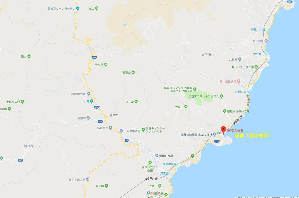 稲取近辺の地図