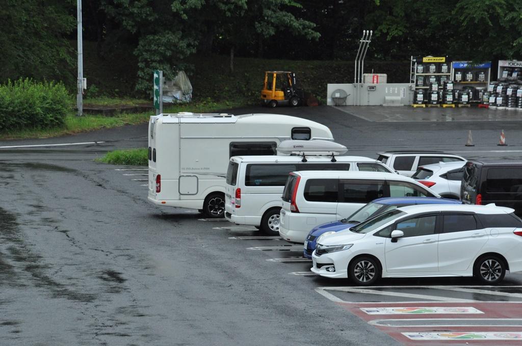 三台共、前沢SAに到着