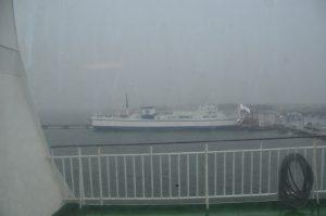 函館に向けて出港