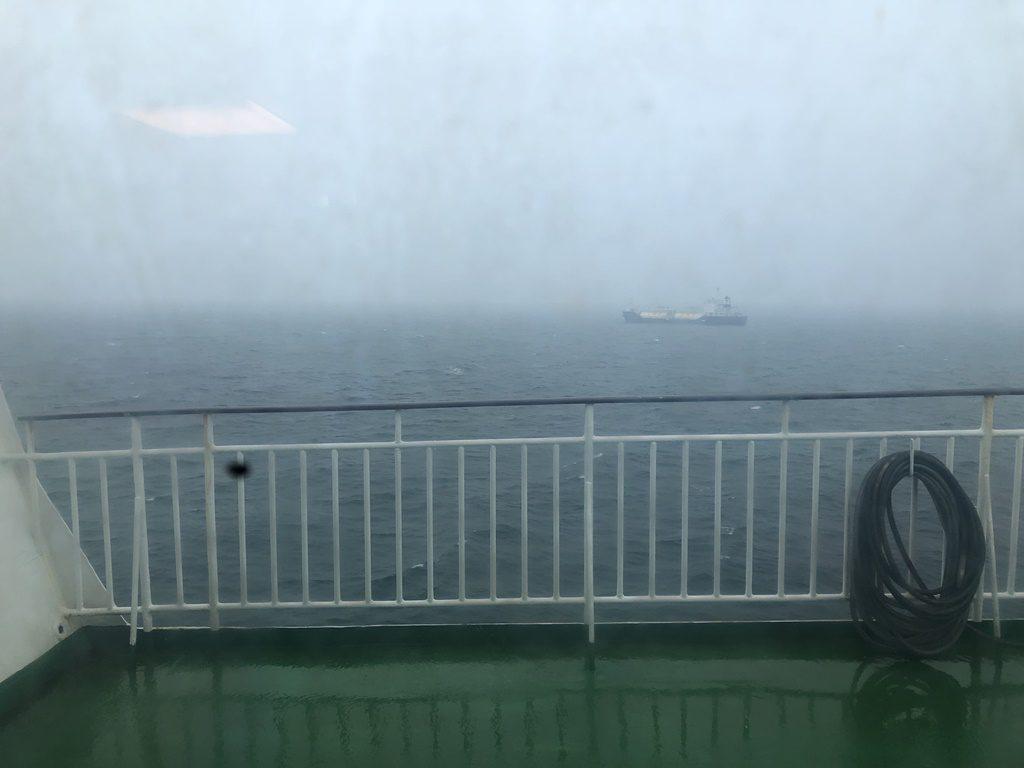 まもなく、函館港到着