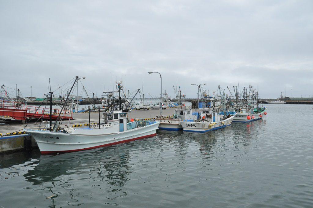 「マルトマ食堂」は苫小牧漁港の前。