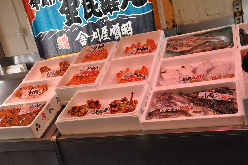 新鮮な魚もあります。