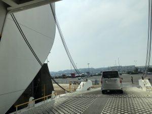 大洗港到着。