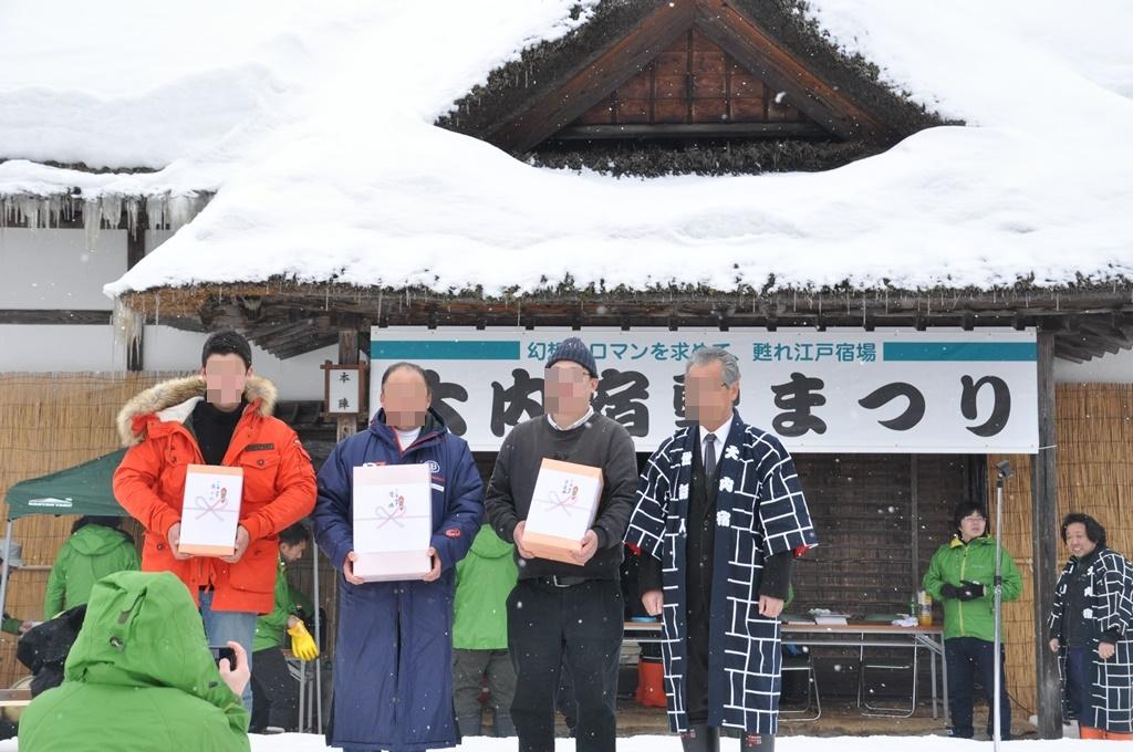 優勝者と二位、三位には豪華賞品が渡されました。